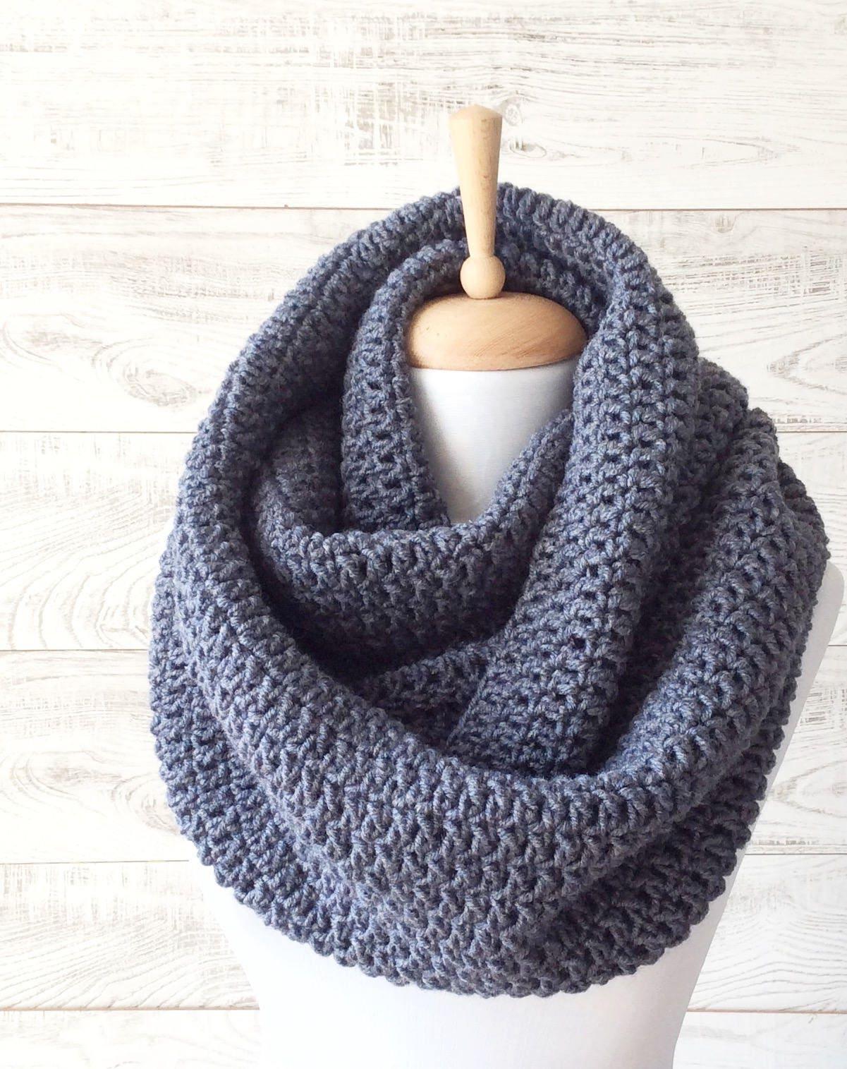 grosse laine charpe en tricot charpe grise pour homme etsy. Black Bedroom Furniture Sets. Home Design Ideas