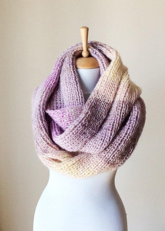 VENTE luxe Angora laine infini écharpe en tricot écharpe   Etsy 21c42bbdcfe