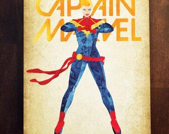Captain Marvel - Carol Danvers Print