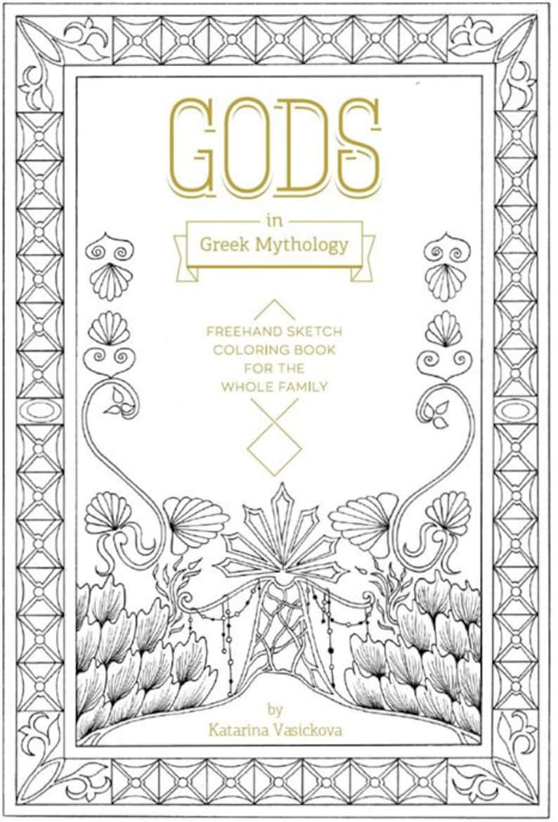 Coloring book for whole family Gods in Greek image 0