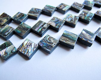 Large Diamond  abalone Centers