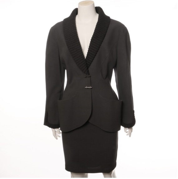 Vintage skirt suit by Thierry Mugler