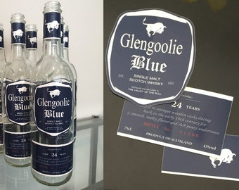 Glengoolie Blue Scotch Labels from Archer - STICKERS/LABELS