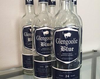 Glengoolie Blue Scotch Labels from Archer - DIGITAL FILES