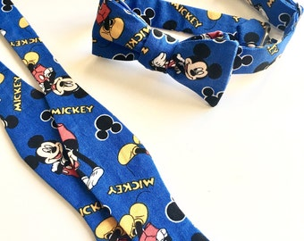 Baby Bow Tie,Mickey Mouse Bow Tie,Gift for Baby,Character Bow Tie,MickeyMouse,Blue Bow Tie,Baby Accessories,Disney Bow Tie,Baby Boy Gift