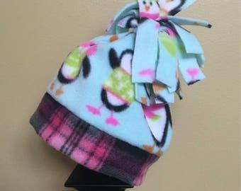 410698c2613 Toddler bucket hat handmade size small hat penguin hat baby