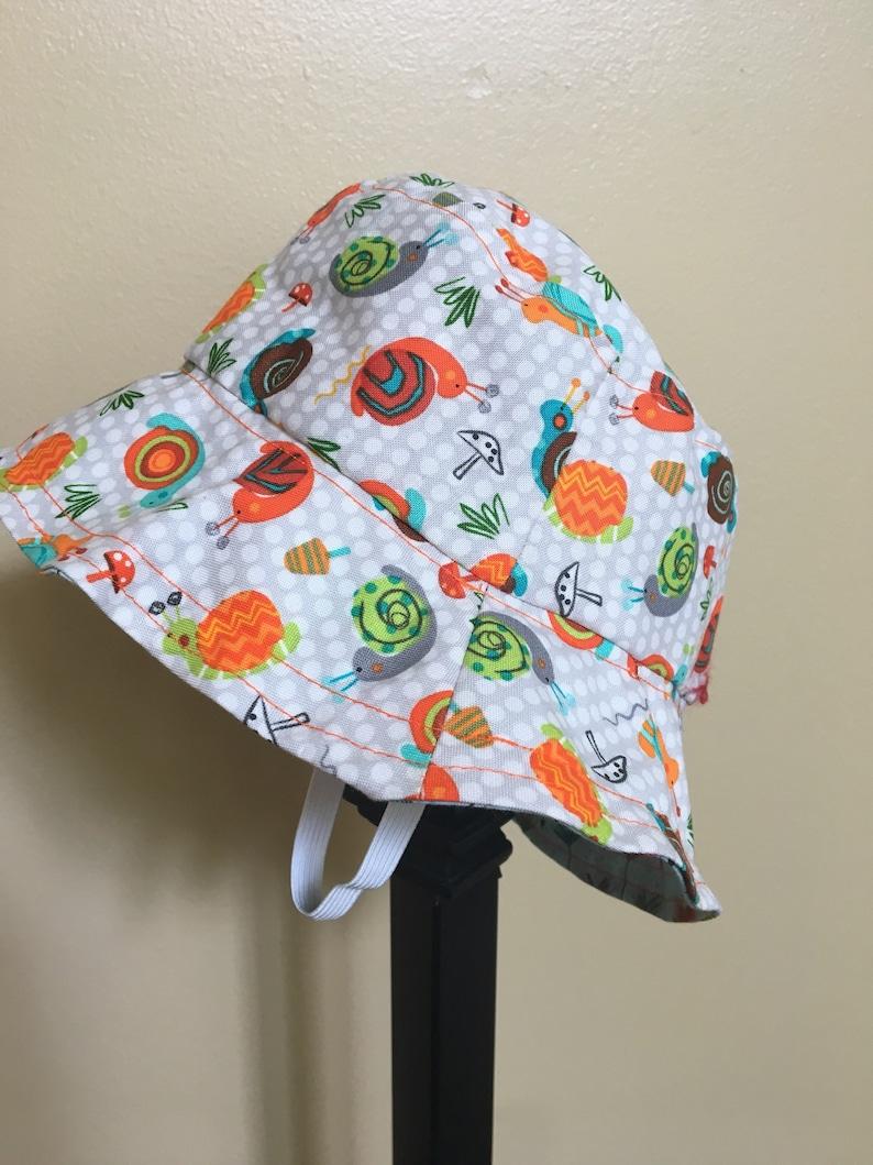 Handmade Reversible Brimmed Hat Kids Cute Bucket
