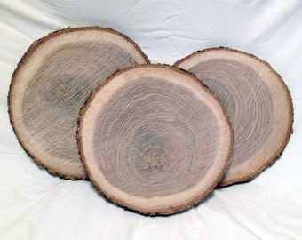 """4 Wood Slices 10"""" to 12"""" Rustic Wedding Centerpiece Party Decor Table Centerpiece"""