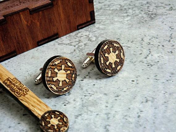 Star wars cufflinks stormtrooper wooden cufflinks groomsmen etsy image 0 solutioingenieria Gallery