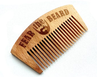 Beard comb Personalized Wooden Beard Comb Gift for dad Gift for boyfriend Valentine gift for him Mens Gift for husband Groomsmen gift ideas