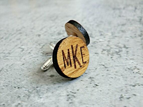 Personalisierte Manschettenknopfe Aus Holz Trauzeugen Etsy