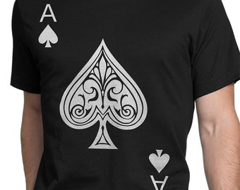 04387459ae4acb Ace of Spades Men/Women T-shirt S-XXL, Funny, Playing Card, Gambling,  Poker, Black Jack, Magic, Cool Gift!