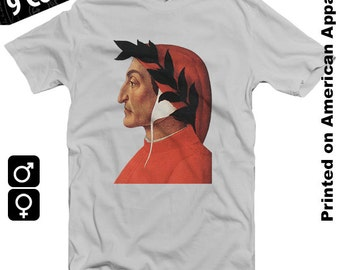 Dante Alighieri American Apparel T-shirt S-XXL  Divine Comedy, Purgatory, Hell, Religion, Christianity, Church, Occult, Cool Gift