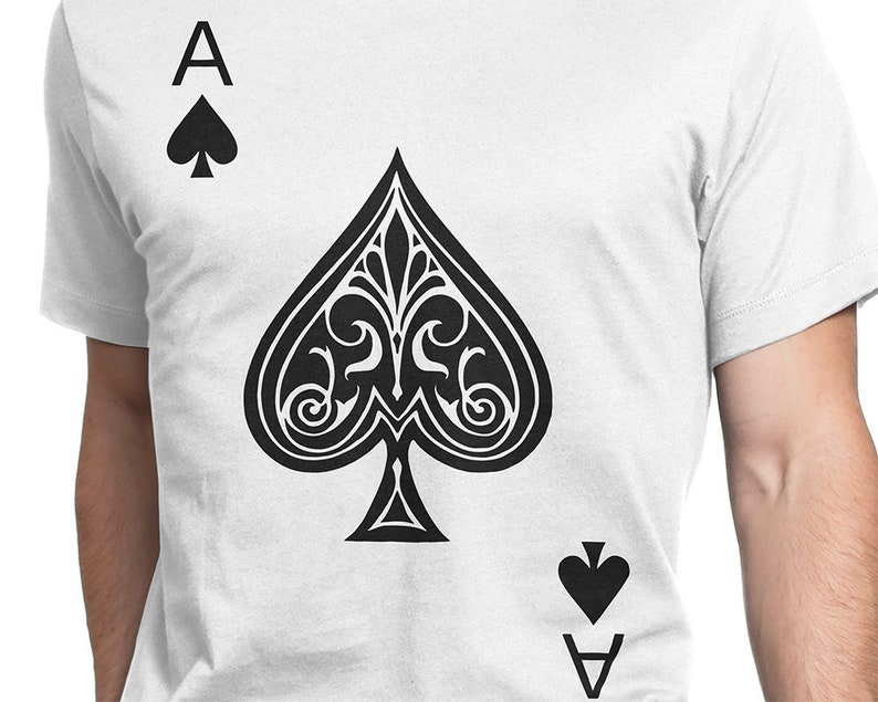 0012fd04 Ace of Spades Men/Women T-shirt S-XXL Funny Playing Card   Etsy