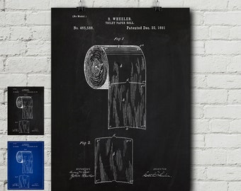 Toilet blueprint etsy toilet paper patent request print bathroom poster toilets funny vintage blueprint malvernweather Image collections