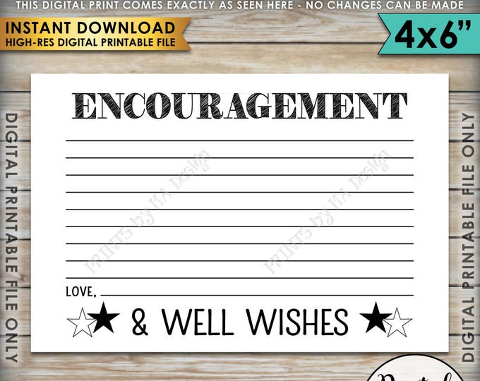 "Military Encouragement and Well Wishes Card, Boot Camp Send Off, Patriotic Wishes, PRINTABLE 4x6"" Card <ID>"