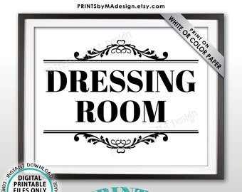 "Dressing Room Sign, Fitting Room Sign, Privacy Please, PRINTABLE 8x10/16x20"" Sign <ID>"