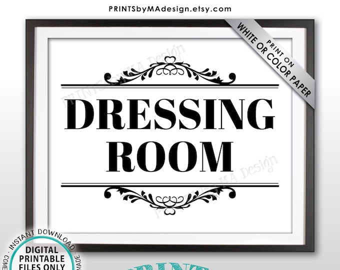 """Dressing Room Sign, Fitting Room Sign, Privacy Please, PRINTABLE 8x10/16x20"""" Sign <ID>"""
