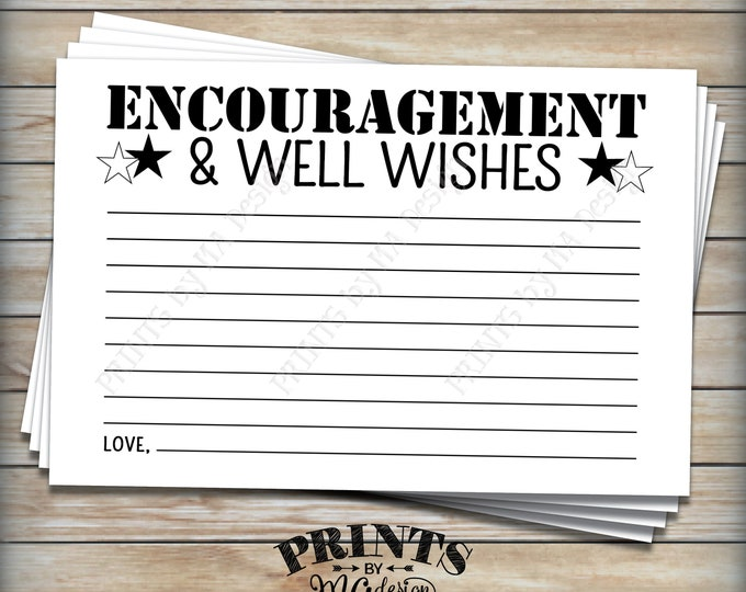 "Military Encouragement and Well Wishes Card, Patriotic Boot Camp Send Off Wishes, PRINTABLE 4x6"" Card <ID>"