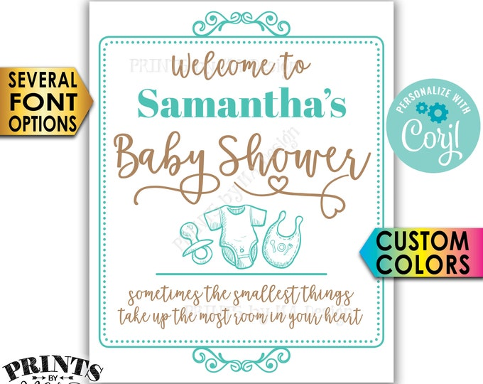 """Baby Shower Welcome Sign, Custom PRINTABLE 8x10/16x20"""" Baby Shower Entrance Sign <Edit Yourself with Corjl>"""