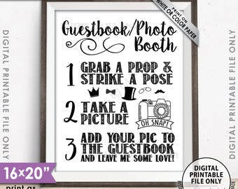 """Guestbook Photobooth Sign Add photo to the Guest Book Photo Booth Sign, Leave Me Some Love, 8x10/16x20"""" Instant Download Printable"""