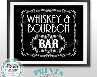 """Whiskey & Bourbon Bar Decor, Whiskey and Bourbon Bar Sign, Better with Age Vintage Whiskey Gift Black/White PRINTABLE  8x10/16x20"""" Sign <ID>"""
