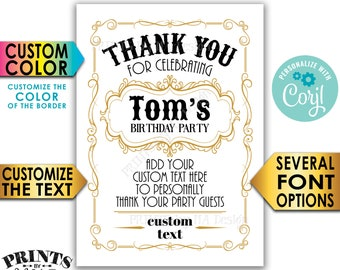 "Vintage Thank You Card, Better with Age, Old No Whiskey Liquor Themed Party, Custom PRINTABLE 5x7"" Digital File <Edit Yourself with Corjl>"