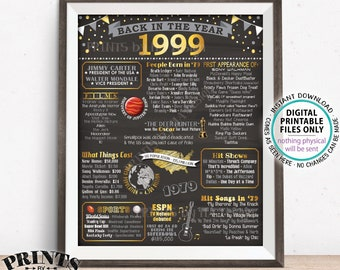 "1979 Flashback Poster, Flashback to 1979 USA History Back in 1979 Birthday Anniversary Reunion, PRINTABLE 16x20"" Sign <ID>"