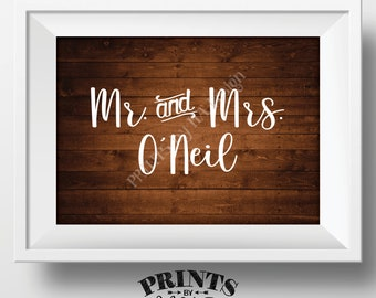 """Bridal Party Name Sign, Reserved for the Wedding Party Names, Bridal Table, Gift, Wedding Reception, PRINTABLE 5x7"""" Rustic Wood Style Sign"""
