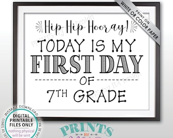 Hip Hip Hooray Today is my Last Day of School Sign Black Text PRINTABLE 8.5x11 Last Day Sign School/'s Out SALE Last Day of School Sign