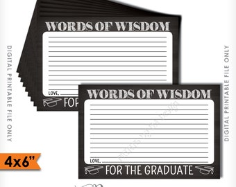 advice for graduate words of wisdom for the graduate printable chalkboard card grad advice 4x6 instant download digital printable file