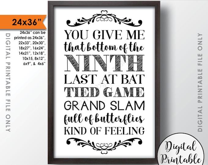 """Baseball Wedding Sign, Rustic Wedding Baseball Decor, Grand Slam Wedding, Baseball Decorations, Instant Download 24x36"""" Printable Sign"""