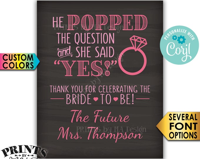 picture about He Popped the Question Printable referred to as Edit By yourself with Corjl - PRINTSbyMAdesign