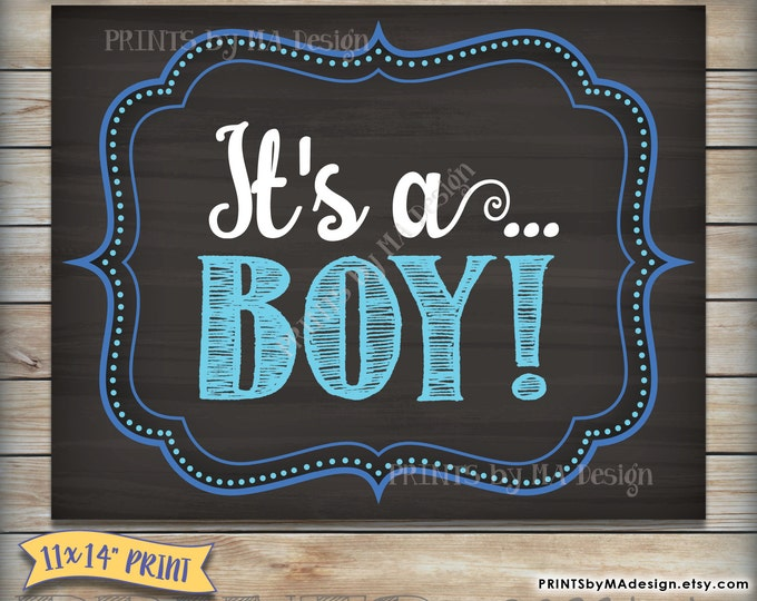 It's a BOY chalkboard sign, Gender reveal printable photo prop, Boy Announcement, Having a Boy, Instant Download Digital Printable File