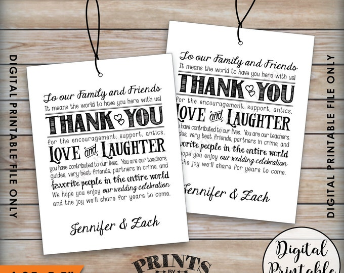 Wedding Welcome Bag Tags, Hotel Bag Labels, Thank Out of Town Guests, Destination Wedding, Thank You Tags, Custom Digital Printable File