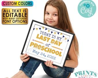 "Last Day of School Sign, Editable Last Day of School Photo Prop, Custom PRINTABLE 8x10/16x20"" School's Out Sign <Edit Yourself w/Corjl>"