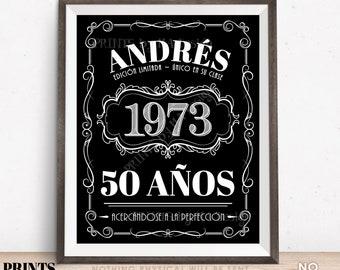 "Spanish Vintage Birthday Sign, Feliz Cumpleaños, Liquor Theme Party, Custom PRINTABLE Black & White 8x10/16x20"" Better with Age Decoration"