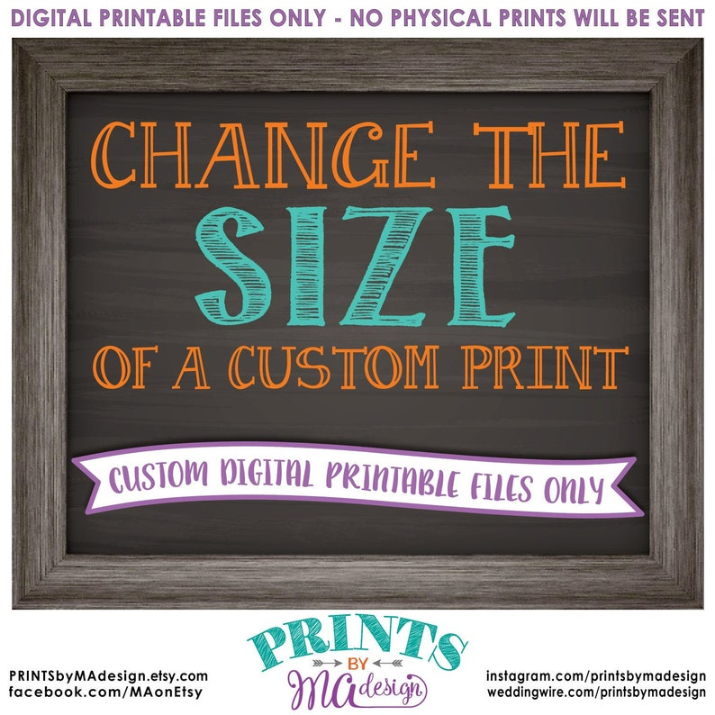 Change the size of a CUSTOM print in my shop to fit your needs image 0