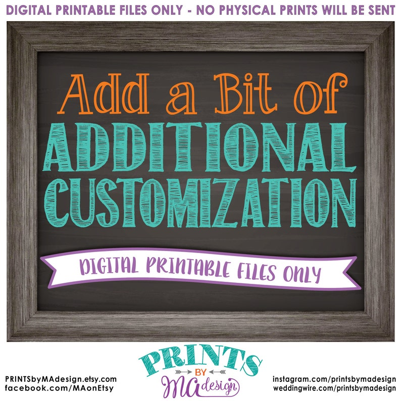 Additional Customization to an Existing Custom Print Add image 0