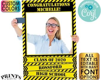 "Quarantine Selfie Frame, Editable Photo Selfie Station, Custom PRINTABLE 24x36"" Digital File, Graduation Party <Edit Yourself w/Corjl>"