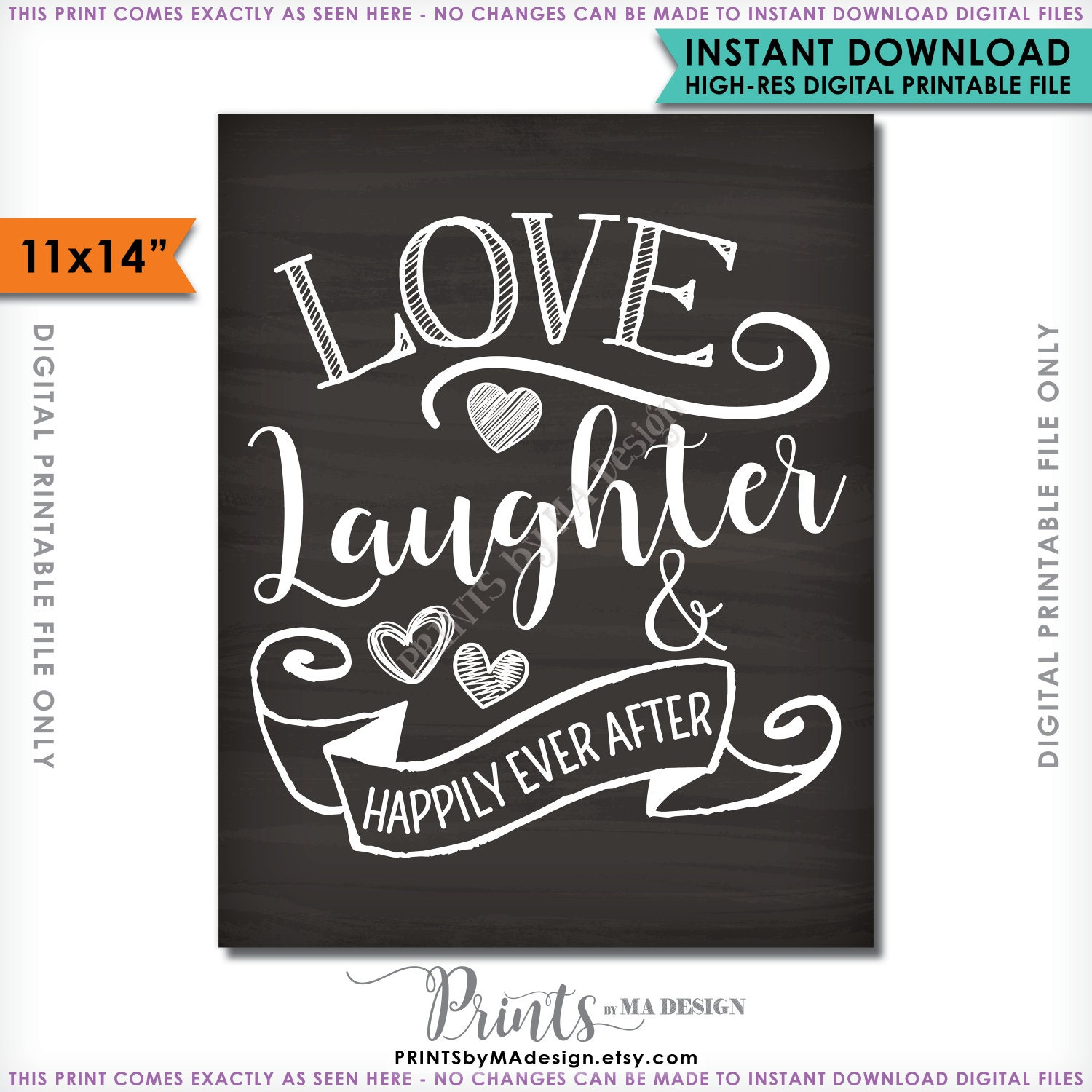 5bdce9388c95 Love Laughter and Happily Ever After Sign