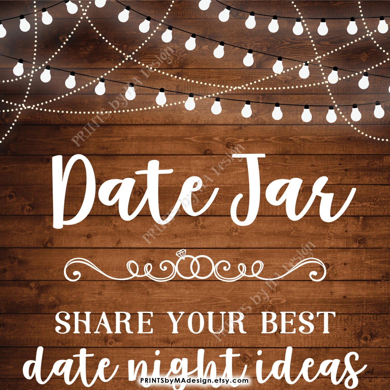 date jar sign, share your best date ideas with the new mr & mrs