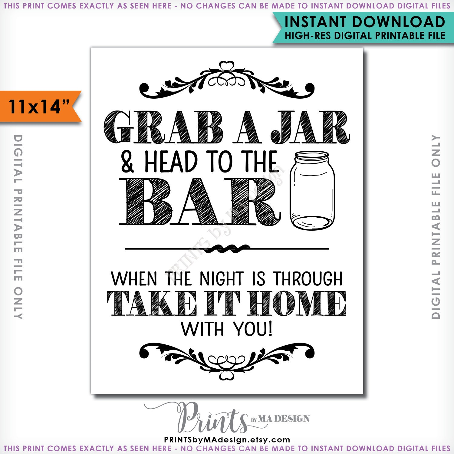 photo relating to Head in a Jar Printable named Seize a Jar and Thoughts in direction of the Bar Indication, Choose your Jar toward the Bar