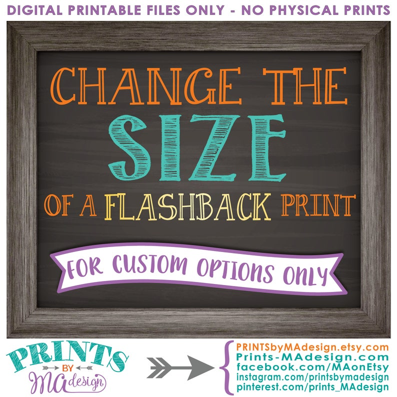Change the size of a CUSTOM FLASHBACK poster in my shop to fit image 0