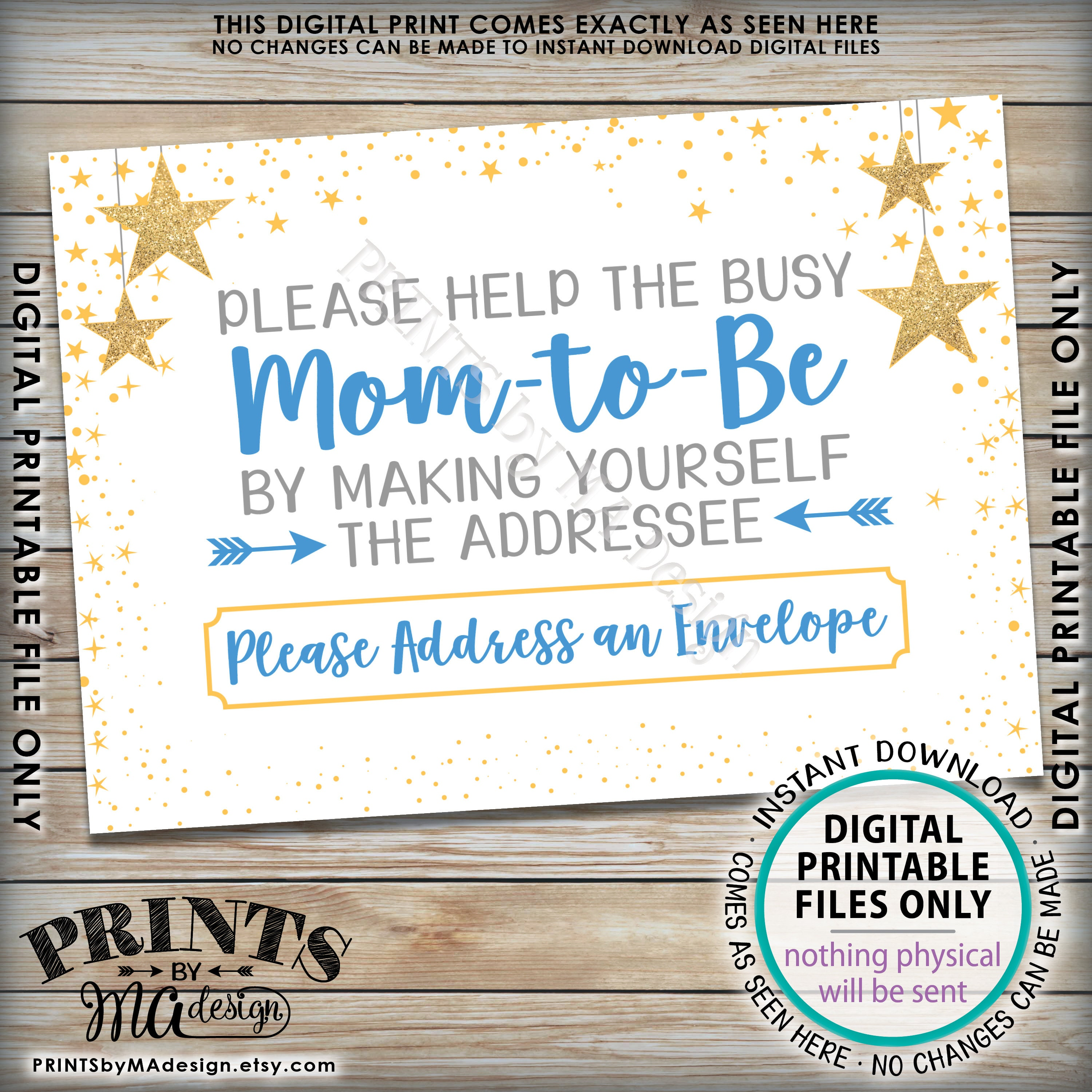 Address An Envelope Baby Shower Sign Thank You Card Envelope Sign