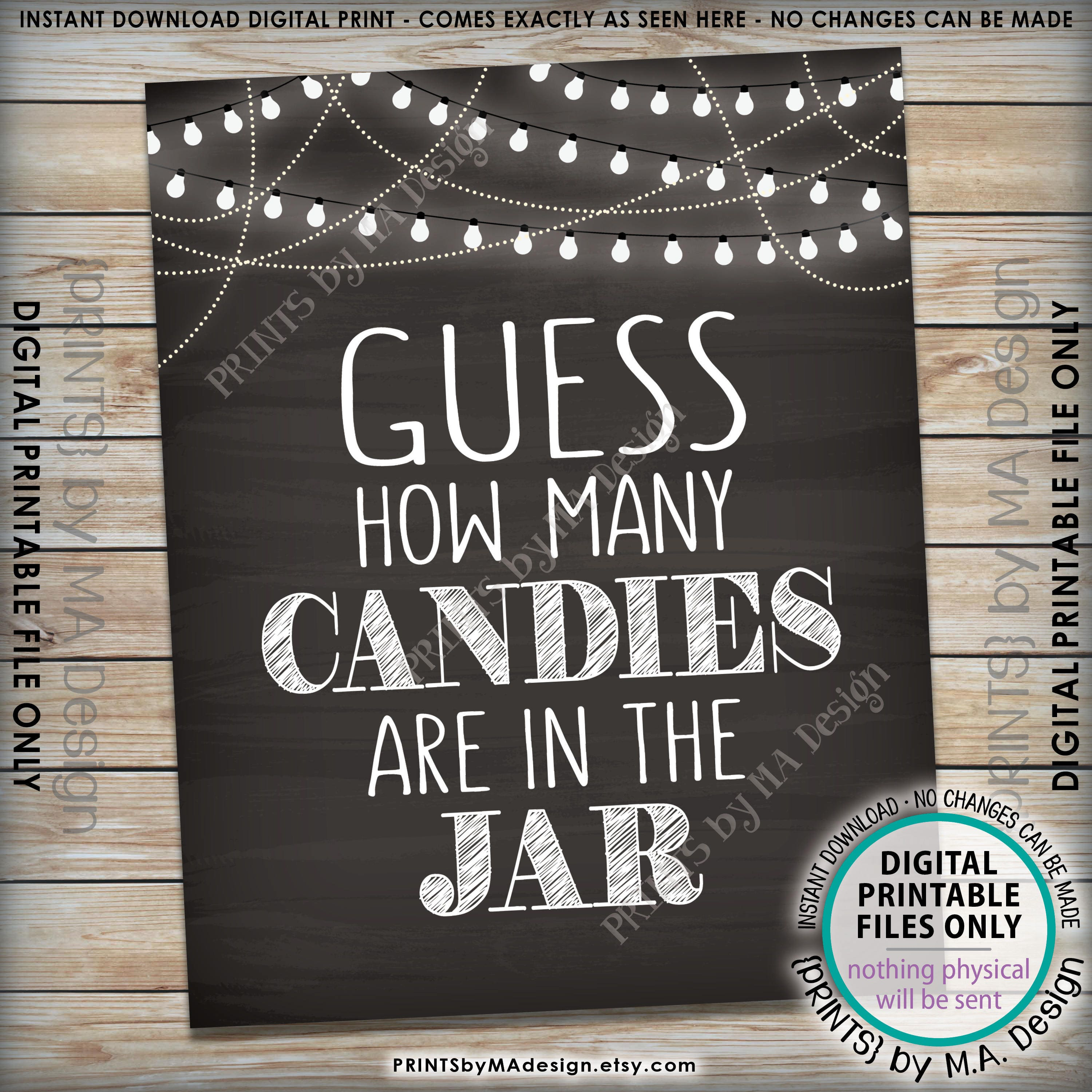 graphic about Guess How Many in the Jar Printable referred to as Sweet Guessing Video game Indication, Bet How Innumerable Candies are in just the