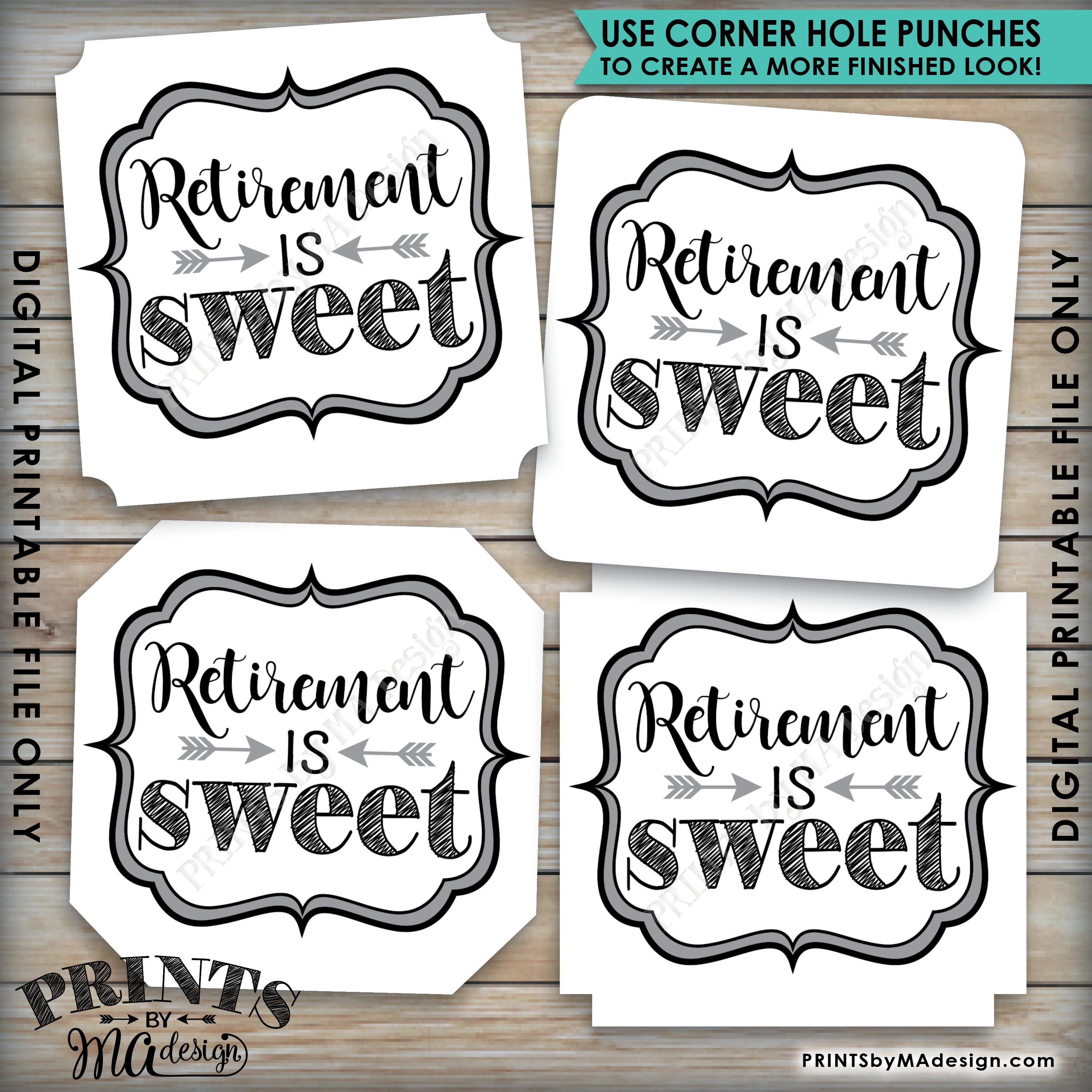 Retirement Is Sweet Tags Retirement Party Favor Tags