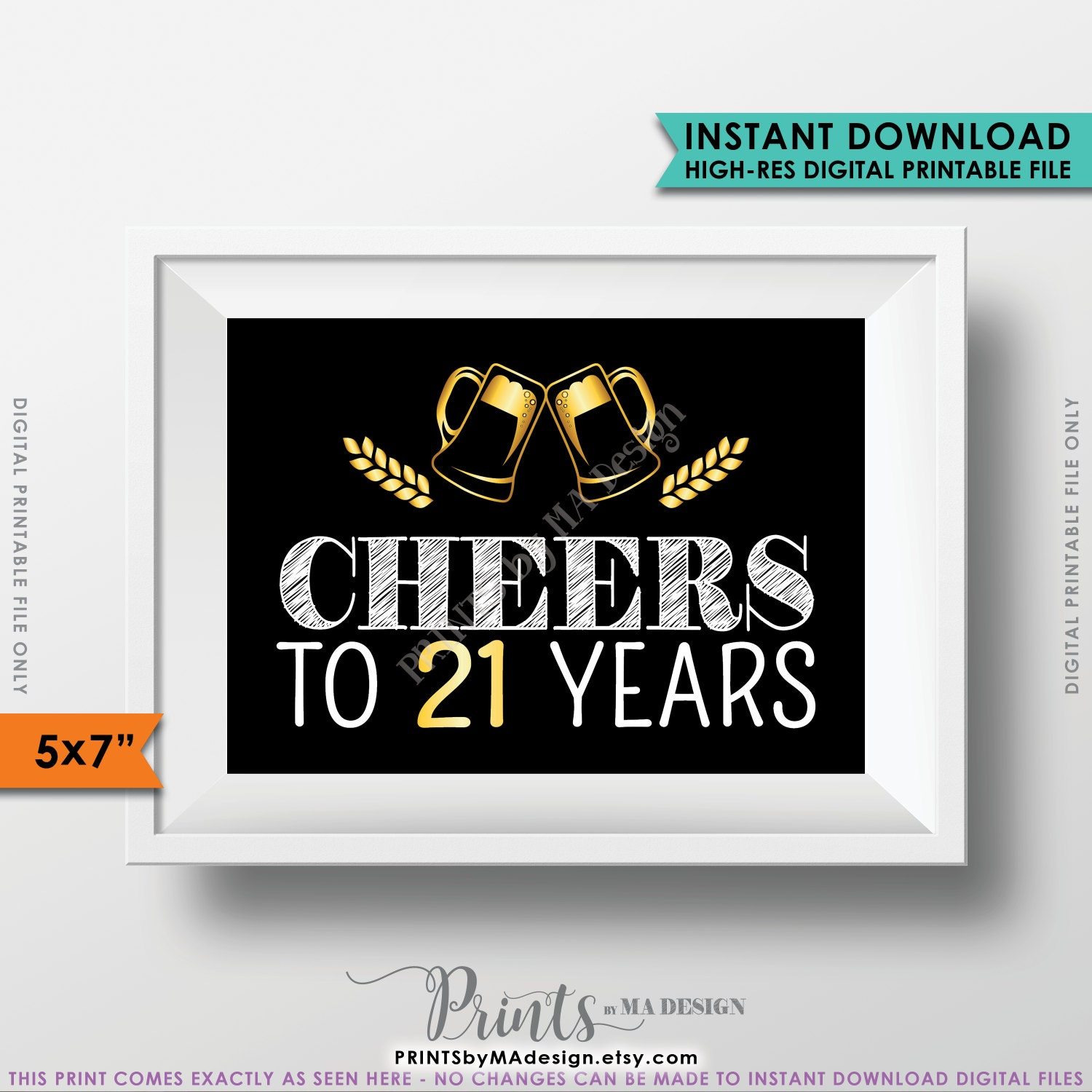 Black And Gold Anniversary 21st Birthday Party Decoration Instant Download Digital Printable File Gallery Photo