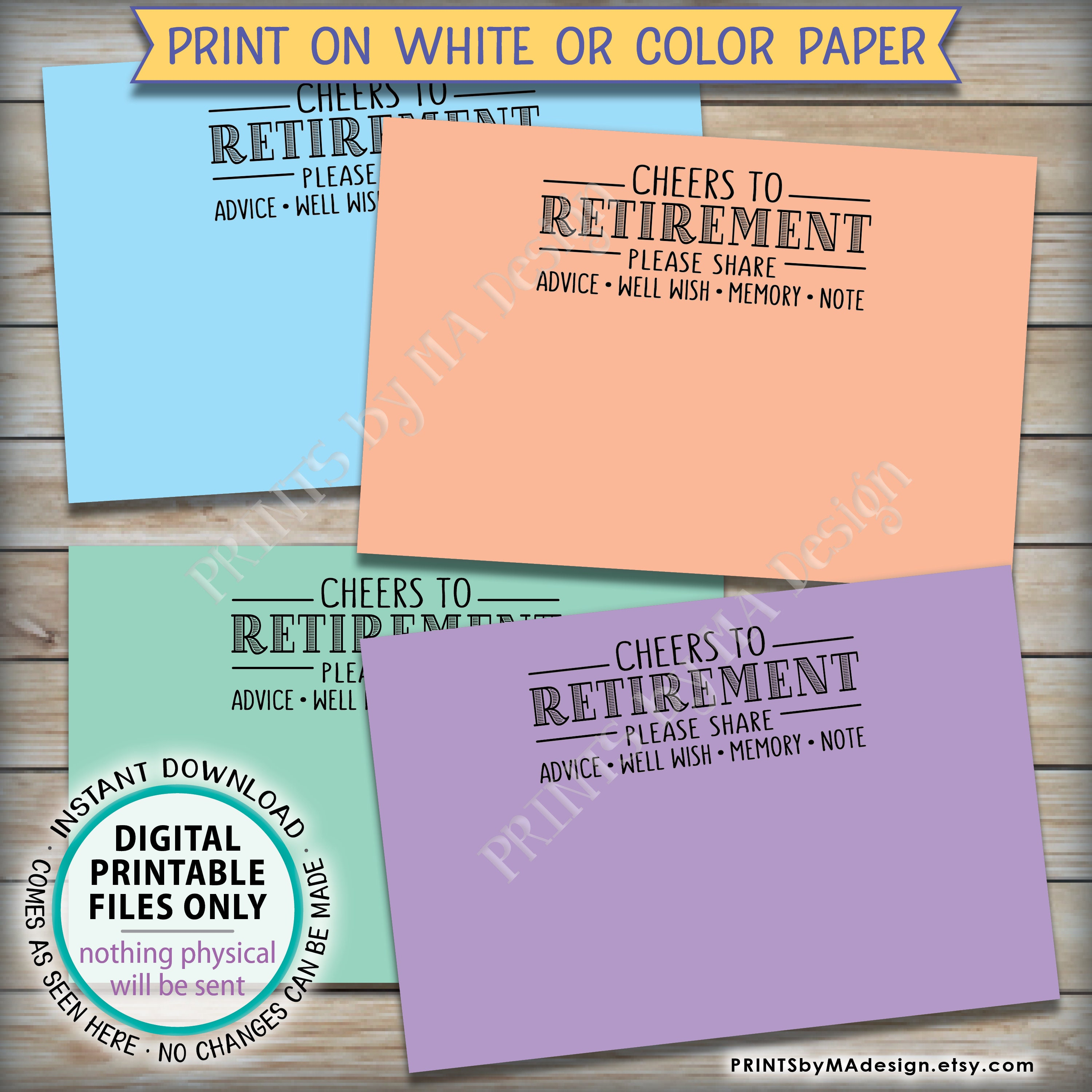 photo about Printable Retirement Cards named Retirement Would like Playing cards, Cheers toward Retirement Get together Sport