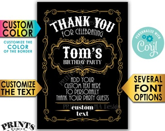 """Vintage Thank You Card, Better with Age, Custom PRINTABLE 5x7"""" Digital File, Old No Whiskey Liquor Themed Party <Edit Yourself with Corjl>"""